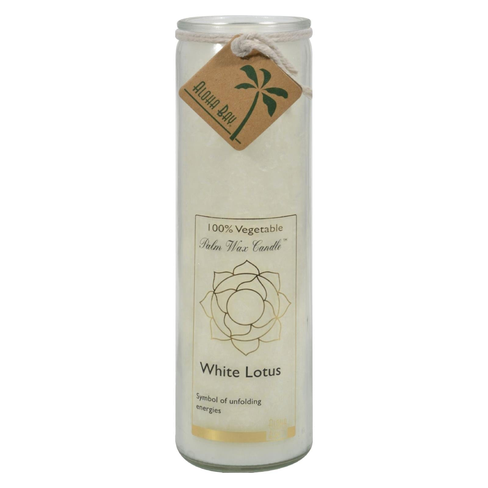 White Lotus Candle Jar