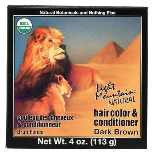 Light Mountain Organic Dark Brown Hair Color